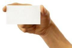 La main de l'homme avec une carte de visite professionnelle de visite Photos libres de droits