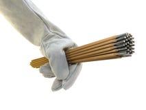La main de la soudeuse. Photos libres de droits