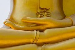 La main de la statue d'image de Bouddha images libres de droits