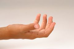 La main des gosses Image libre de droits