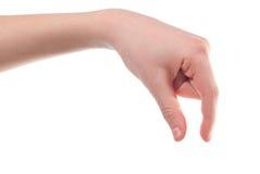 La main du garçon Photo stock