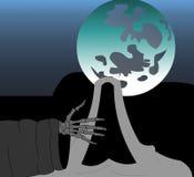 La main du squelette. Images libres de droits