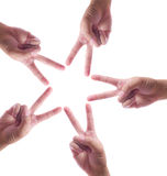 La main effectuent l'étoile d'isolement Image libre de droits