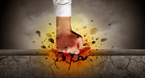 La main frappe intense et les coupures monopolisent la parole image libre de droits