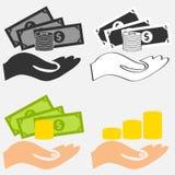 La main garde l'argent Images libres de droits