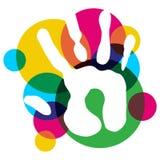 La main multicolore de diversité a isolé illustration stock