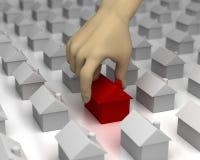 La main sélectionne une Chambre illustration de vecteur