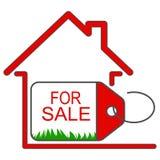 La maison à vendre l'icône de vecteur editable chargent image libre de droits