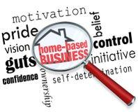 La maison a basé la loupe d'affaires recherchant l'individu de l'information Images libres de droits