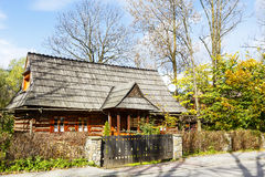 La maison bicamérale traditionnelle dans Zakopane Photos libres de droits