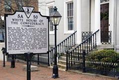 La Maison Blanche confédérée Images libres de droits