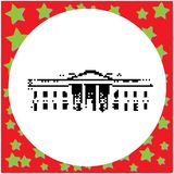 La Maison Blanche dans le vecteur à 8 bits noir des Etats-Unis de Washington DC illustration stock