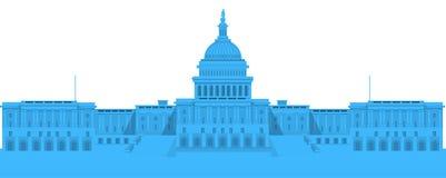 La Maison Blanche - illustration détaillée de vecteur Photos libres de droits