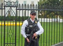La Maison Blanche, Washington, C.C protégé par service secret photographie stock libre de droits