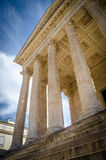La Maison Carrée. Maison Carrée, an example of Vitruvian architecture, it is one of the most well preserved Roman structure. It is located in Nimes, France stock image
