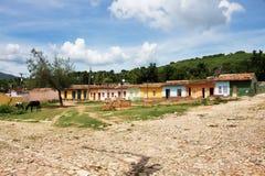 La maison colorée au Trinidad Photos stock