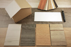La maison décorent par le bois Texture en bois sur le fond d'isolat Images stock