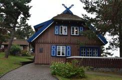 La maison d'été de Thomas Mann dans Nida photos libres de droits
