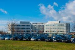 La maison d'organismes d'incapacités au Danemark, un étalage des équipements pour des handicapés Photographie stock
