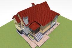 la maison 3D rendent en Arménie Images libres de droits