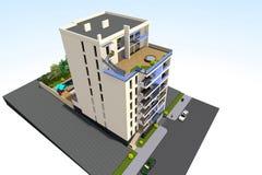 la maison 3D rendent en Arménie Photographie stock