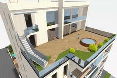 la maison 3D rendent en Arménie Photo libre de droits