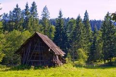 La maison dans la forêt Photo stock