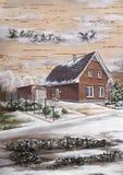 La maison dans le village allemand Photo libre de droits