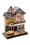 La maison de l'horloge décorative Images libres de droits