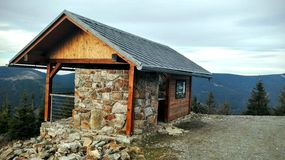 La maison de la montagne Photo libre de droits