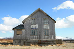 La maison de Lofoten abandonné Photographie stock libre de droits