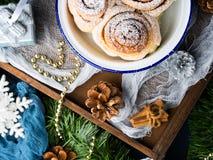 La maison de Noël a fait le fond de dessert Images libres de droits