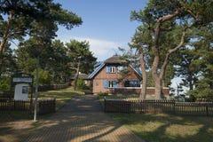 La maison de Thomas Mann dans Nida Photos libres de droits