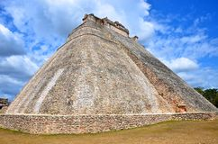 La maison del adivino à uxmal, Mexique Photo stock
