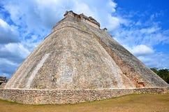 La maison del adivino à uxmal, Mexique Photo stock