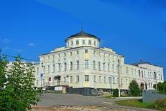 La maison des négociants Alyanchikov sur la place de cathédrale dans la ville de Kasimov, Russie Photo libre de droits