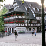 La Maison des Tanneurs - oud huis in Straatsburg Royalty-vrije Stock Fotografie