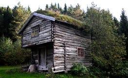 La maison du pêcheur dans les bois en Norvège. Photographie stock libre de droits