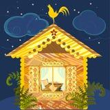 La maison du paysan la nuit illustration stock