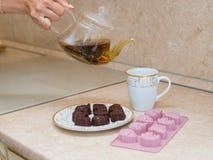 La maison a effectué des bonbons Image stock