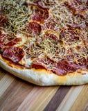 La maison a effectué la pizza Image stock