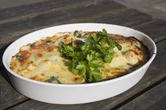 La maison a effectué le lasagne photos stock