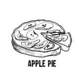 La maison a effectué le secteur d'Apple Illustration tirée par la main de vecteur illustration stock