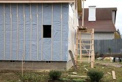 La maison en construction photographie stock