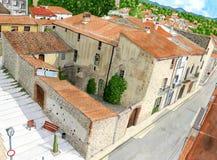 La maison en pierre peut Bruguera Batlloria Photo libre de droits