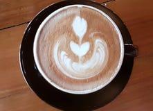 La maison en retard de café a fait, caramel tardif spécial photo libre de droits