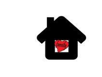 La maison est famille avec le coeur illustration stock