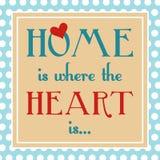 La maison est où le coeur est Photos libres de droits