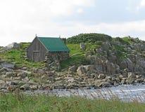 La maison et l'océan du pêcheur Photo libre de droits