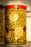 La maison a fait des olives Photo stock
